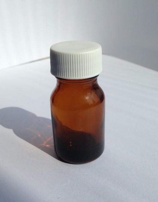 10 ml glass amber round bottle