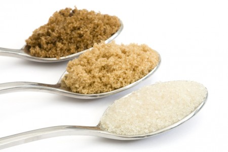Golden granulated, light muscovado and dark muscovado sugar