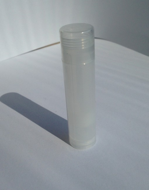 translucent lip balm tube