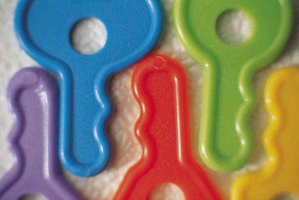 childrens toy plastic keys
